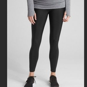 GAP FIT MATERNITY Shine Black Leggings Pants M